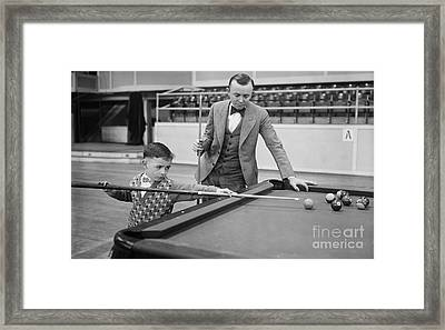 Young Pocket Billiards Wizard, 1927 Framed Print by Science Source