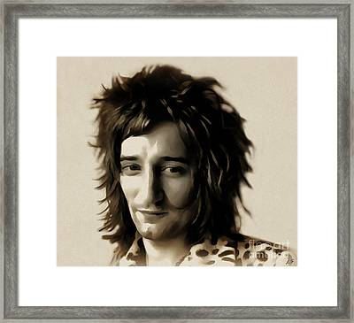 Young Rod Stewart Framed Print
