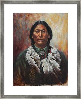 Young Sittingbull Framed Print by Harvie Brown