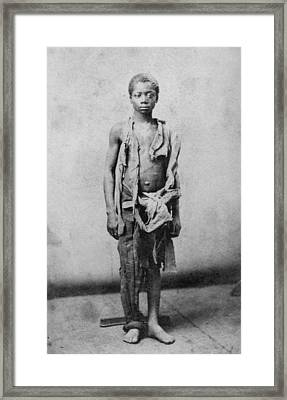 Young Slave During The Civil War Framed Print by Everett