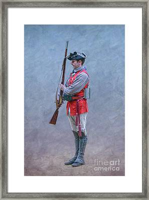 Framed Print featuring the digital art Young Soldier With Rifle by Randy Steele