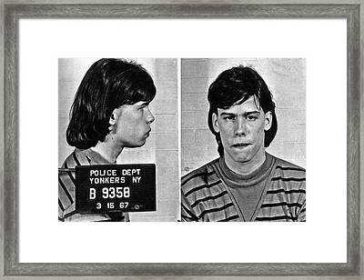 Young Steven Tyler Mug Shot 1963 Pencil Photograph Black And White Framed Print