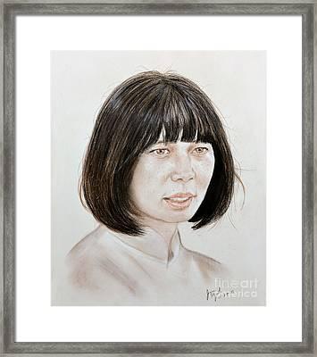 Young Vietnamese Woman Framed Print by Jim Fitzpatrick