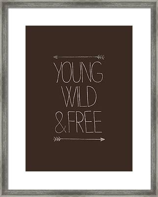 Young Wild And Free Hipster Framed Print by Illustratorial Pulse