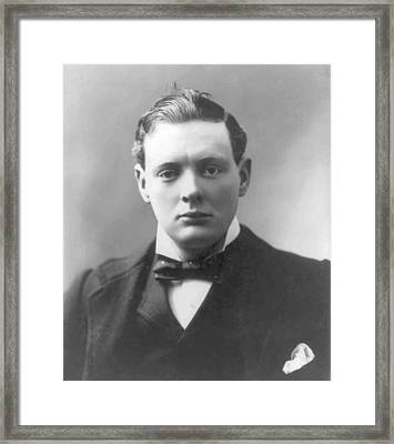 Young Winston Churchill Framed Print
