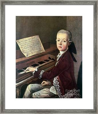 Young Wolfgang Amadeus Mozart Framed Print by Science Source