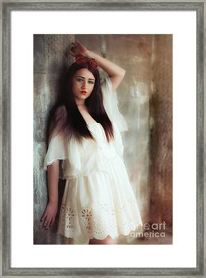 Young Woman Framed Print by Amanda Elwell