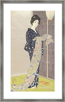 Young Woman In A Summer Kimono, 1920 Framed Print