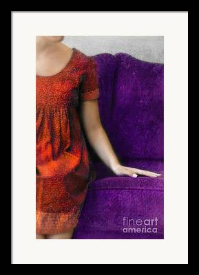 Purple Couch Framed Prints