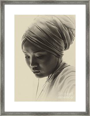 Young Woman In Turban Framed Print