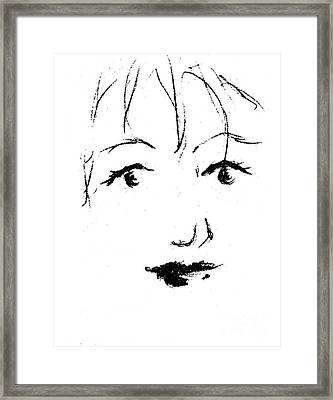 Young Woman Framed Print