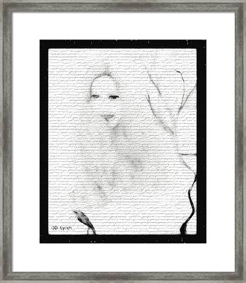 Young Woman Pencil Sketch Framed Print by Debra Lynch