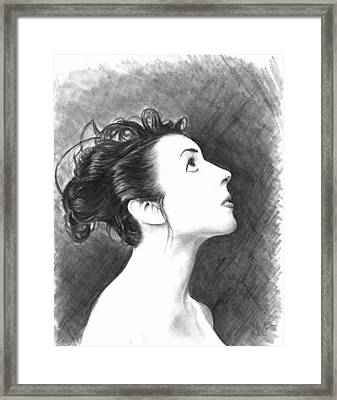 Young Woman Framed Print by Ryan Jones