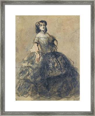 Young Woman Wearing Crinoline Framed Print