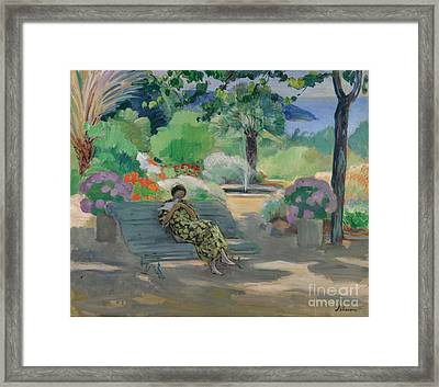 Young Woman With A Dove Framed Print by MotionAge Designs