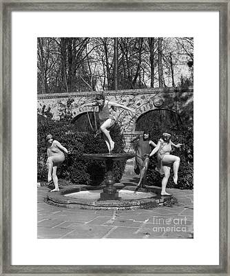 Young Women Dressed As Water Nymphs Framed Print by H. Armstrong Roberts/ClassicStock