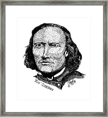 Younger Kit Carson Framed Print by Clayton Cannaday