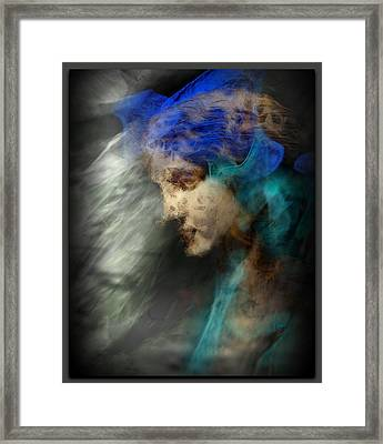 Your Angel Passed Nearby Framed Print by Freddy Kirsheh