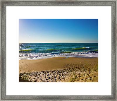 Your Beach Is Calling Framed Print