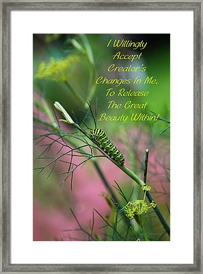 Your Beauty Within Framed Print by Robin Coventry