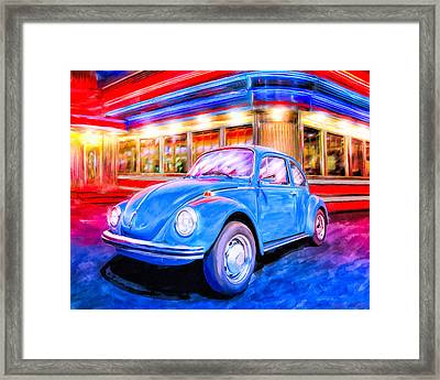 Your Chariot Awaits - Classic Vw Beetle Framed Print