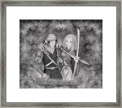 Framed Print featuring the digital art Your Destiny Awaits by Raphael Lopez