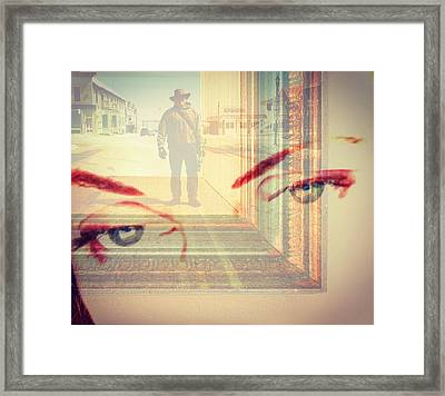 Your Eyes Only Framed Print