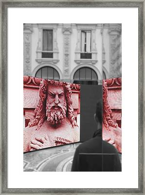 Your Fault Framed Print by Valentino Visentini
