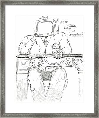 yOur Future Will Be Televised Framed Print by Devrryn Jenkins