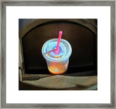 Your Garbage My Art Framed Print