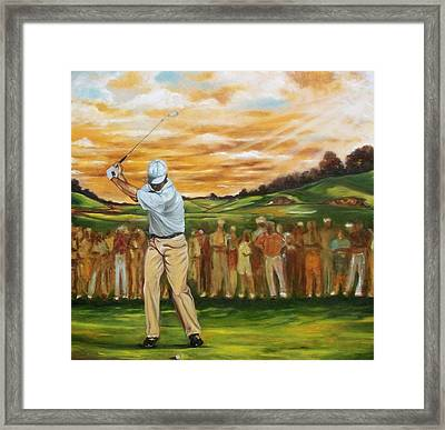 Framed Print featuring the painting Your Golf by Emery Franklin