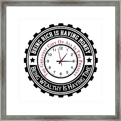 Your Greatest Gift The Present Framed Print by FirstTees Motivational Artwork