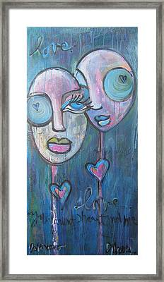 Your Haunted Heart And Me Framed Print