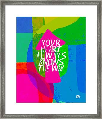 Framed Print featuring the painting Your Heart Always Knows The Way by Lisa Weedn