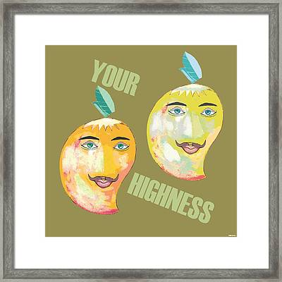 Your Highness B Framed Print by Thecla Correya