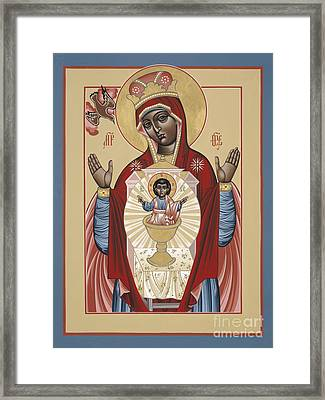 The Black Madonna Your Lap Has Become The Holy Table 060 Framed Print