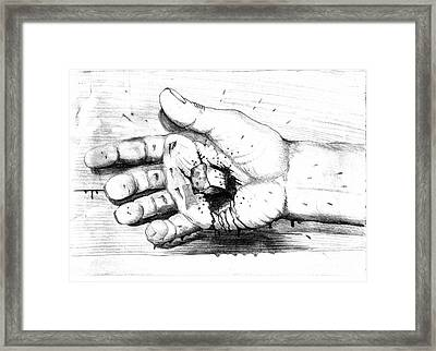 Your Life Is In His Hands Framed Print by Randall Easterling