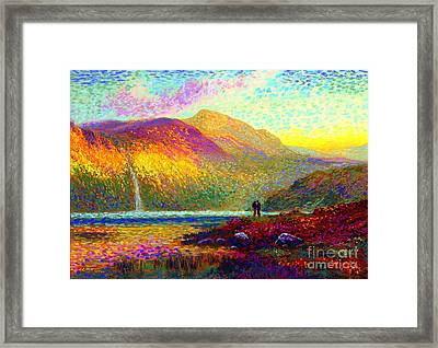 Your Love Colors My World, Modern Impressionism, Romantic Art Framed Print by Jane Small