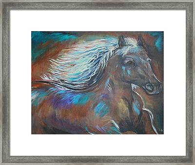 Framed Print featuring the painting Your Majesty by Leslie Allen