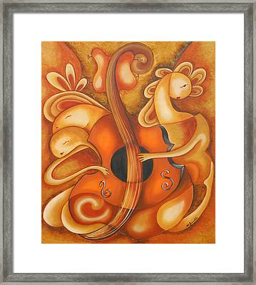 Your Music My Inspiration Framed Print by Marta Giraldo