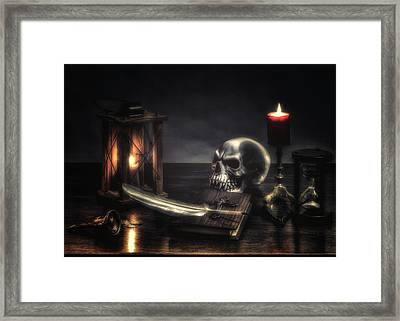 Your Name Is Written, - The Hour Predicted Framed Print