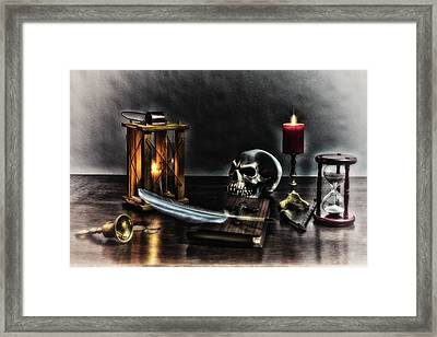 Your Name Is Written, - The Hour Predicted II Framed Print