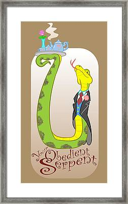 Framed Print featuring the digital art Your Obedient Serpent by J L Meadows