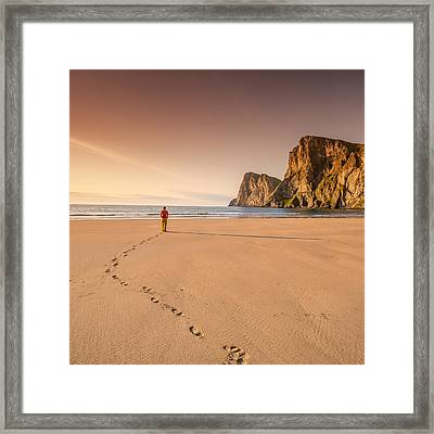 Your Own Beach Framed Print by Alex Conu