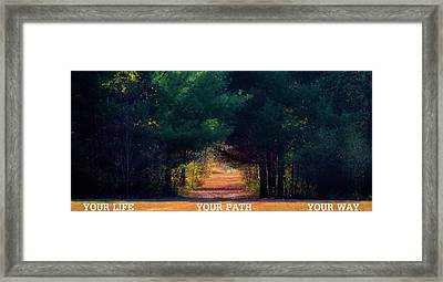 Your Path Your Way Framed Print