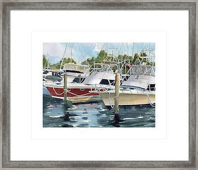 Your Slip Is Showing Framed Print