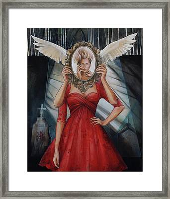Your Soul Casts No Reflection Framed Print by Jacque Hudson