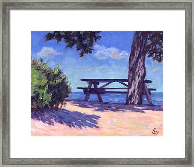 Your Table Is Waiting Framed Print by Michael Camp