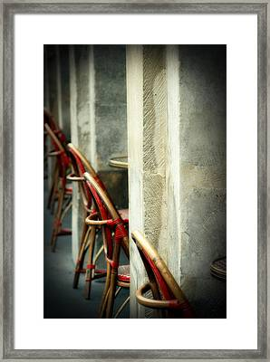 Your Tables Ready Framed Print by Cabral Stock