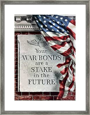 Your War Bonds Are A Stake In The Future Framed Print by War Is Hell Store